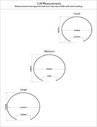 Cuff Size Guide Chart