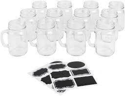Amazon.com: Ivy Lane Design Mason Jar 12 Mugs Kit with Chalkboard,  Stickers: Kitchen & Dining