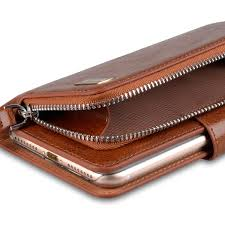 vetti craft genuine leather wallets book with coin case for apple iphone 7 plus 5 5