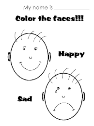 Small Picture Sad Face Colouring Pages Free Download