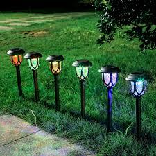 Mushroom Solar Light Menards Amazon Com M Kvfa 10pcs Solar Led Path Lighting Landscape