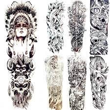 племенной индейцы Totem временные татуировки бог оригинальный черный зла для