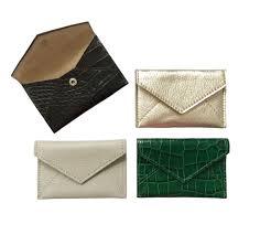 Leather Mini Envelope Business Card Holder Emilymccarthycom