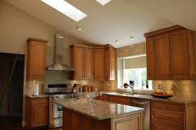 sloped ceiling cabinets. Perfect Ceiling Home Appliances And Accessories For Blonde Cabinets Kitchen  Amazing  Cabinet Wooden Style Tile On Sloped Ceiling N