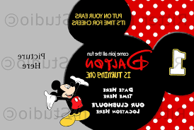 Mickey Mouse Birthday Invitation Printable By Mickey Mouse