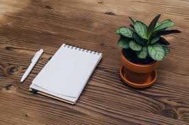 office desk surface. Delighful Surface Office Desk Table Top View Notepad With Blank Pages Copy Space On Wooden  Surface Intended Desk Surface N