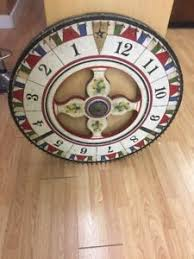 Wooden Carnival Games Antique 100's Vintage Folk Art Wooden Carnival Game Wheel Double 58