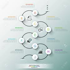 Process Template Modern Infographics Process Template With 9 Paper Circles On