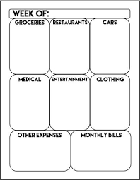 Printable Weekly Expense Tracker Weekly Budget Money Etsy