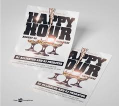 Happy Hour Flyer Free Happy Hour Flyer Psd Mockup Engine Templates