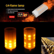 2018 hot g4 led flame effect fire flickering emulation candle bulb light 360 degree dc8 30v for retro chandeliers lights holiday lighting flame bulb
