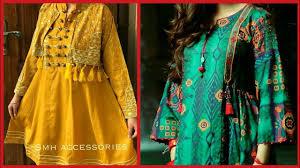 Lelan Suit Design 2018 Top Class Short Frocks Style Kurti Designs For Girls 2019 Latest Fashion Trends