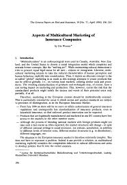 aspects of multicultural marketing of insurance companies springer inside