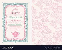 Invitation Layout Free Vintage Tea Invitation Layout