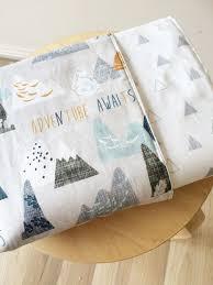 Best 25+ Crib blanket ideas on Pinterest | Crib blanket size, Baby ... & Modern Baby crib blanket. Reversible cot quilt. Adventure Awaits baby  bedding. Modern baby bedding set Adamdwight.com