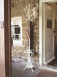Wrought Iron Standing Coat Rack Free Standing Coat Rack With Wrought Iron Material And Slender White 63