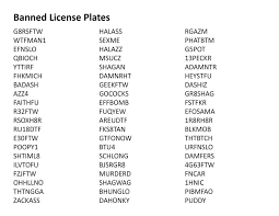 Action Words List Awesome Ohio's Banned Vanity License Plates List