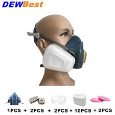 Us 7 99 20 Off Dust Mask Respirator Set Half Facepiece Reusable Anti Dust Mask Respiratory Protection 99 97 Filter Efficiency In Chemical