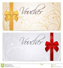 Coupon Voucher Template Voucher Gift Certificate Coupon Template Red B Stock Vector 1