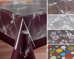 Transparente Folie Bedruckt Weiß Ranke Blümchen Punkte Tischdecke