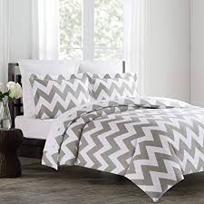 chevron duvet cover.  Chevron Echelon Home Chevron Duvet Cover Set FullQueen Feather Gray To I