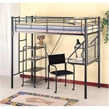 metal bunk bed with desk how cool modern black loft underneath kids within designs powell full metal bunk bed with desk underneath76 metal