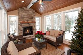 covered patio with stone fireplace and bbq tv above outdoor fireplace john kraemer sons back yard ideas stone fireplaces patios and