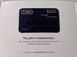 American Express Gift: $100 Turo Gift Card – TravelinPoints
