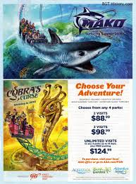 this full page ad appeared on the inside cover of the aaa living in their last issue of the year promoting town at busch gardens