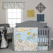 trend lab waverly pom pom spa 4 piece crib bedding set
