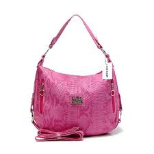 Coach Madison Embossed Small Pink Hobo DFC