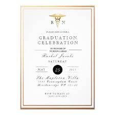 Invitations Formal Chic Formal Nursing Graduate Gold Foil Invite