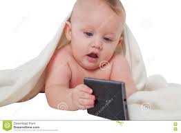Cute Baby Boy Playing With Mobile Phone Stock Photo Image Of