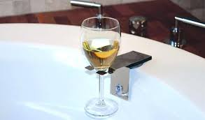 bathroom wine holder bath wine glass holder bathtub caddy with wine glass holder uk