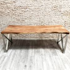Moderner Esstisch Massivholz Aus Tropenholz Rechteckig