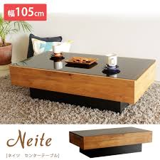 center table wooden nights center table black glass topped drawers nordic modern fashionable simple living table center table drawer with storage with wood