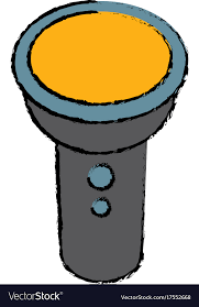flashlight cartoon isolated vector image