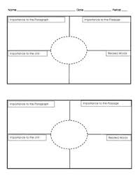 Frayer Model Template 6 Per Page Frayer Models For Vocabulary Two To A Page