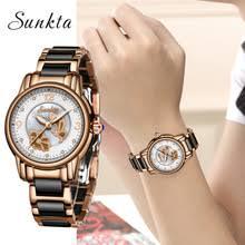 <b>SUNKTA2019</b> New <b>Listing Rose</b> Gold Women Watches Quartz ...