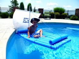 pool noodle pirate raft