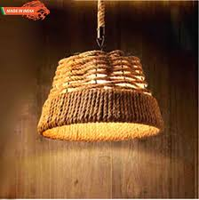 retro style vintage drum rope pendant chandelier for cafe bar