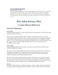 Free Hair Salon Business Plan Sample Spa Template Example – Equityand.co