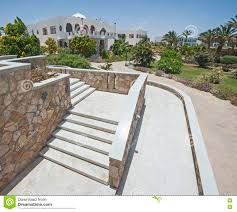 Outdoor Steps Outdoor Steps On Raised Patio Area Stock Photo Image 74721521