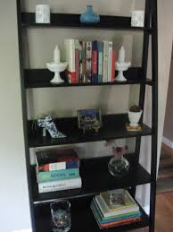 Modern Home Library Design With White Interior Color Decorating Attractive  And Functional Ladder Shelf Ikea For