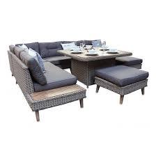 brighton 7pc corner sofa dining outdoor