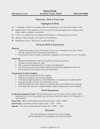 Prep Cook Resume Valuable Sample And Line Samples Genius Cover Lette
