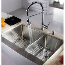 kraus khf203 33 33 inch farmhouse a 70 30 double bowl 16 gauge stainless steel kitchen sink