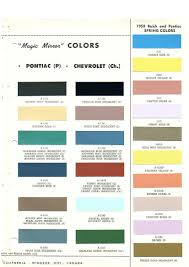 Coral Paint Color Chart Pontiac Paint Charts Main Reference Page By Tachrevcom