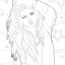 Coloring People S Faces With Famous People Coloring Pages Hellokids
