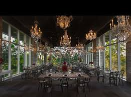 consistently one of the most instagrammed locations in houston the kitchen at the dunlavy dazzles patrons with its dripping chandeliers and floor to
